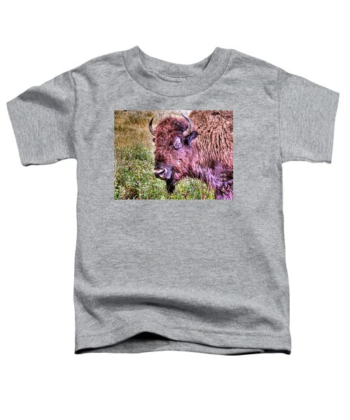 An Astonished Bison Toddler T-Shirt