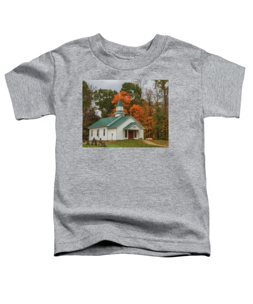 An Old Ohio Country Church In Fall Toddler T-Shirt