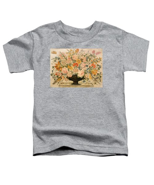 An Urn Containing Flowers On A Ledge Toddler T-Shirt