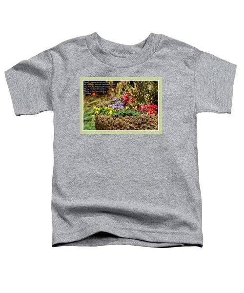 And So In This Moment With Sunlight Above II Toddler T-Shirt by Jim Fitzpatrick
