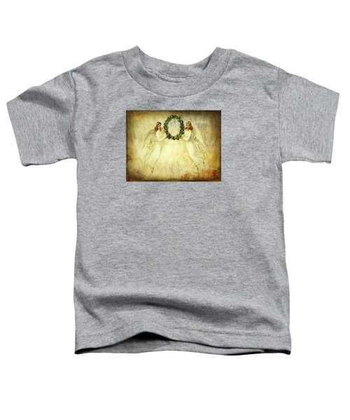 Angels Christmas Card Or Print Toddler T-Shirt by Bellesouth Studio