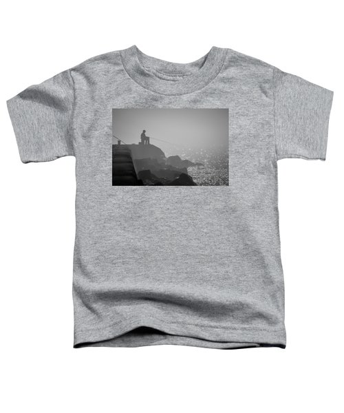 Angling In A Fog  Toddler T-Shirt by Bill Pevlor