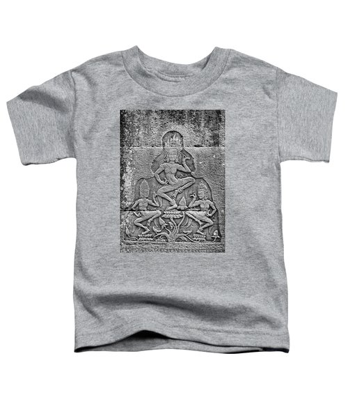 Toddler T-Shirt featuring the photograph Apsaras 3, Angkor, 2014 by Hitendra SINKAR