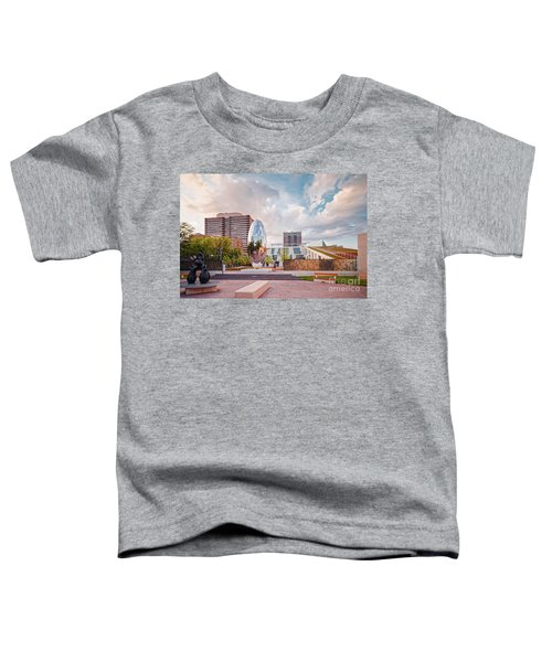 Architectural Photograph Of Anish Kapoor Cloud Column At The Glassell School Of Art - Mfa Houston  Toddler T-Shirt