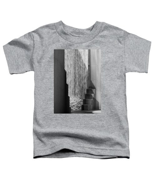 Architectural Waterfall In Black And White Toddler T-Shirt