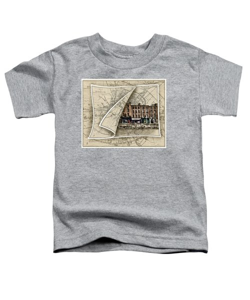 Arran Quay Dublin Map Toddler T-Shirt