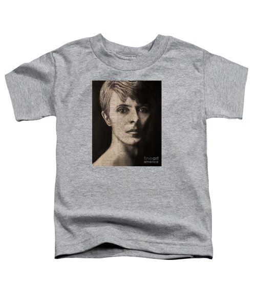 Art In The News 78-bowie Toddler T-Shirt
