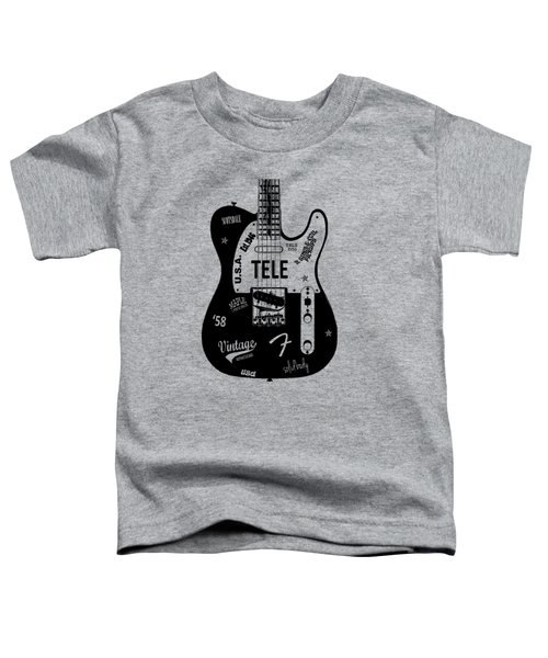 Fender Telecaster 58 Toddler T-Shirt by Mark Rogan