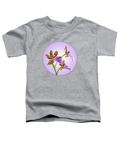 Bold And Beautiful - Zygopetalum Orchid Toddler T-Shirt by Gill Billington