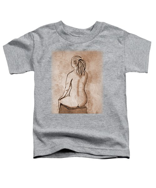 Toddler T-Shirt featuring the drawing Life Drawing 1 by Linda Lees