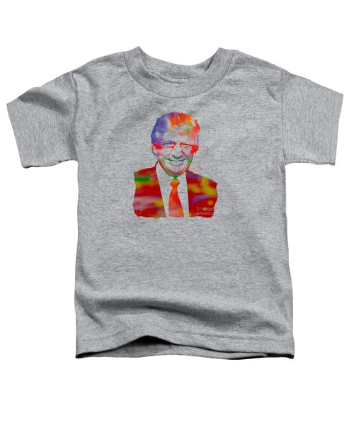 The Donald Trump Watercolor Portrait On Distressed Canvas Toddler T-Shirt