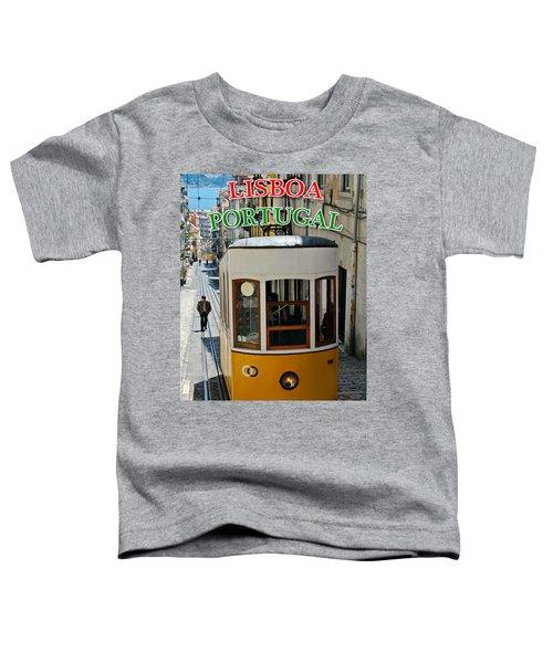 Lisbon - Portugal - Elevador Da Bica Toddler T-Shirt