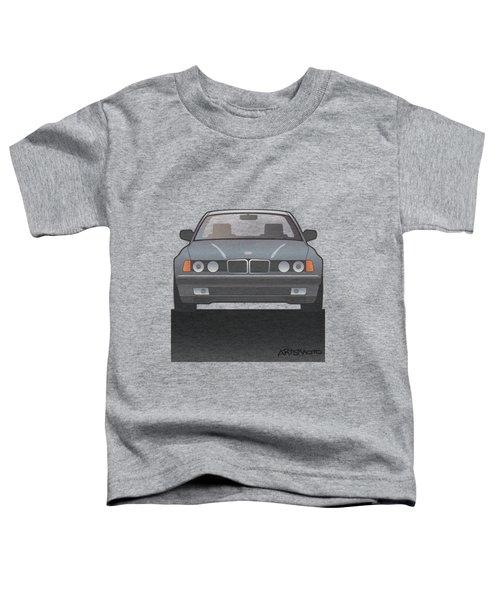 Modern Euro Icons Series Bmw E32 740i  Toddler T-Shirt