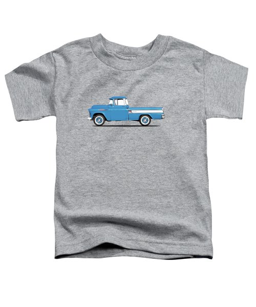 Cameo Pickup 1957 Toddler T-Shirt by Mark Rogan