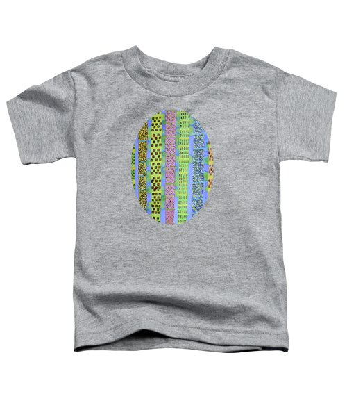 Blue Vertical Stripes And Ornaments  Toddler T-Shirt