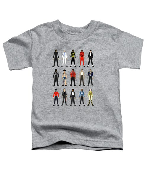 Outfits Of Michael Jackson Toddler T-Shirt by Notsniw Art