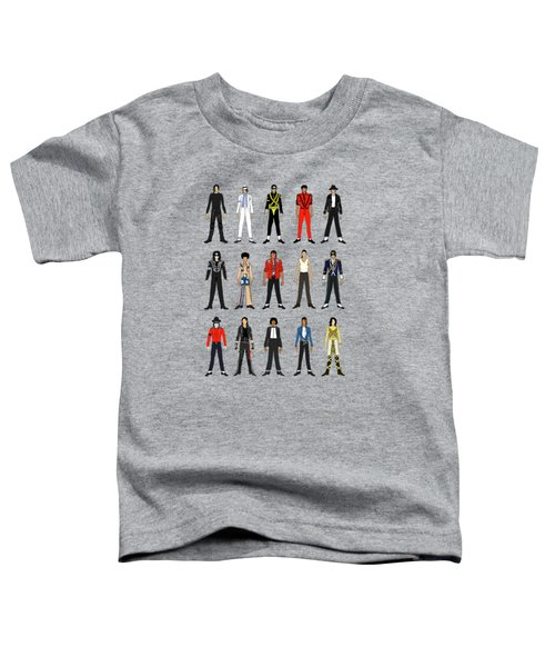 Outfits Of Michael Jackson Toddler T-Shirt