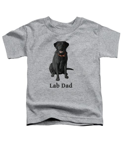 Black Labrador Retriever Lab Dad Toddler T-Shirt by Crista Forest
