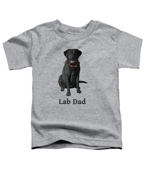 Black Labrador Retriever Lab Dad Toddler T-Shirt