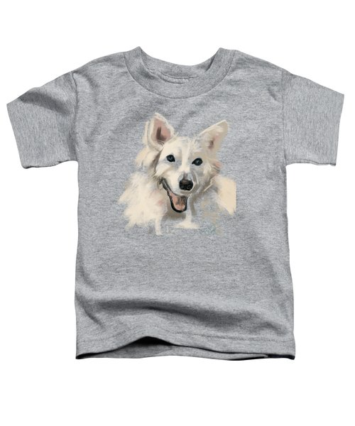 Toddler T-Shirt featuring the painting Dog Olaf by Go Van Kampen