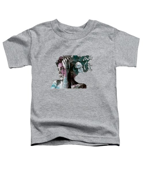 Beneath Broken Earth - Street Art Drawing, Woman With Leaves And Tattoos Toddler T-Shirt