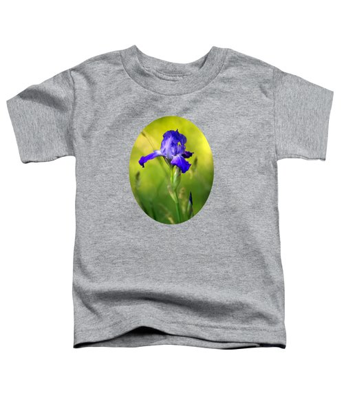 Violet Iris Toddler T-Shirt by Christina Rollo