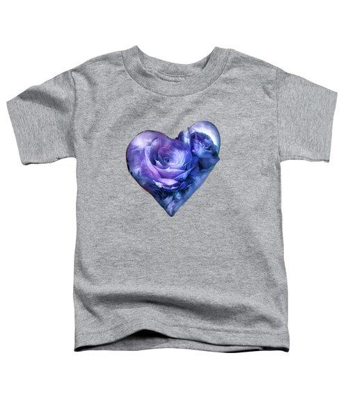 Heart Of A Rose - Lavender Blue Toddler T-Shirt