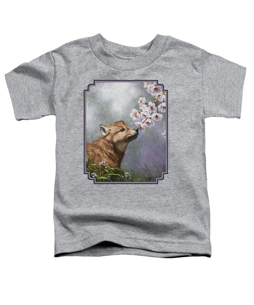 Wolf Pup - Baby Blossoms Toddler T-Shirt