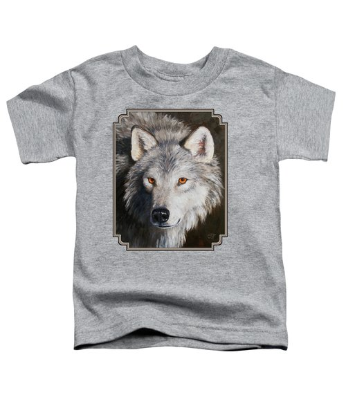 Wolf Portrait Toddler T-Shirt by Crista Forest