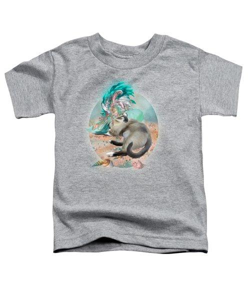 Cat In Summer Beach Hat Toddler T-Shirt