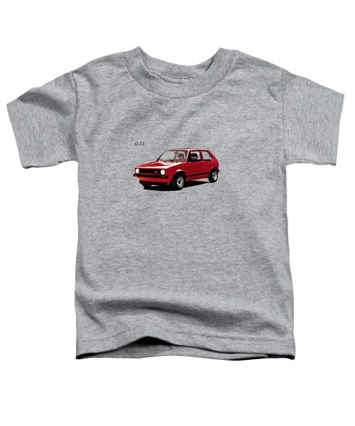 Vw Golf Gti 1976 Toddler T-Shirt by Mark Rogan