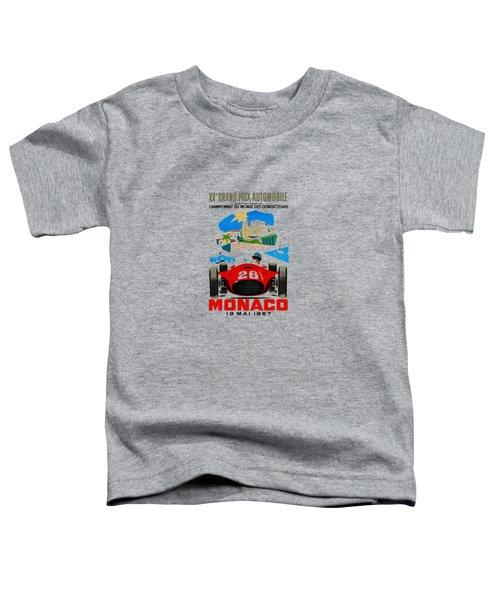 Monaco 1957 Toddler T-Shirt by Mark Rogan