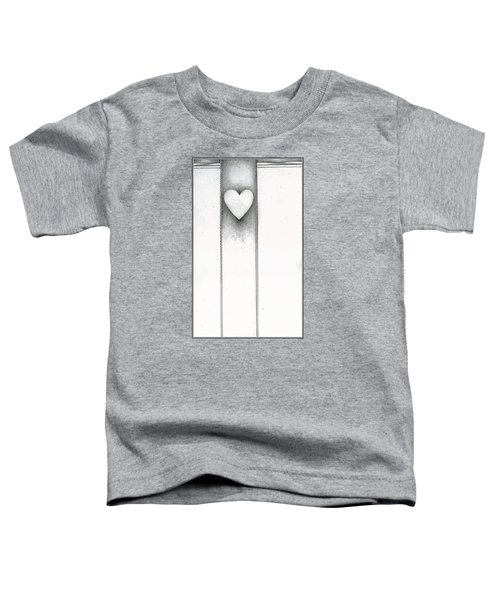 Toddler T-Shirt featuring the drawing Ascending Heart by James Lanigan Thompson MFA