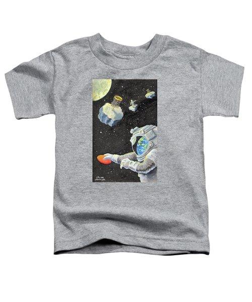 Astronaut Disc Golf Toddler T-Shirt