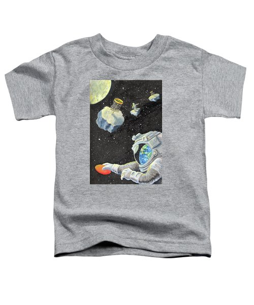 Astronaut Disc Golf Toddler T-Shirt
