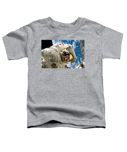 Astronaut During The Third Spacewalk Of Sts-121 Toddler T-Shirt