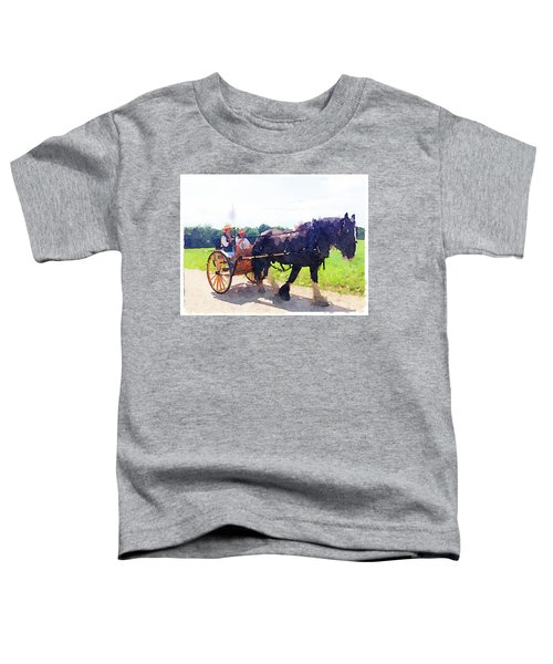Horse And Buggy At Mount Vernon Toddler T-Shirt