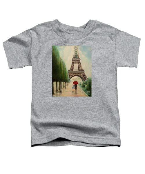 At The Eiffel Tower Toddler T-Shirt