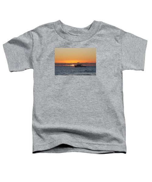 Atlantic Ocean Fishing At Sunrise Toddler T-Shirt