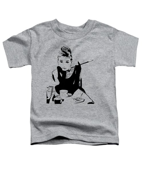 Audrey Hepburn Toddler T-Shirt by Ryan Burton