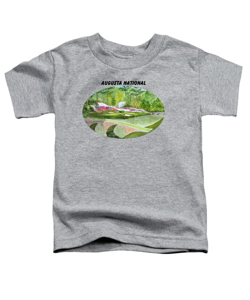 Augusta National Golf Course With Banner Toddler T-Shirt by Bill Holkham