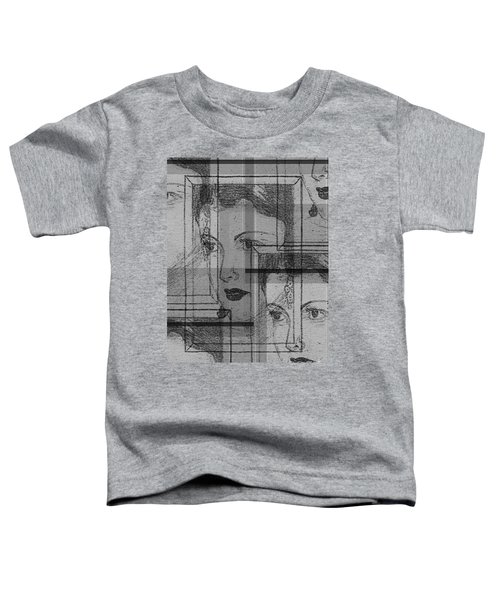 Aunt Edie Black And White Print Toddler T-Shirt