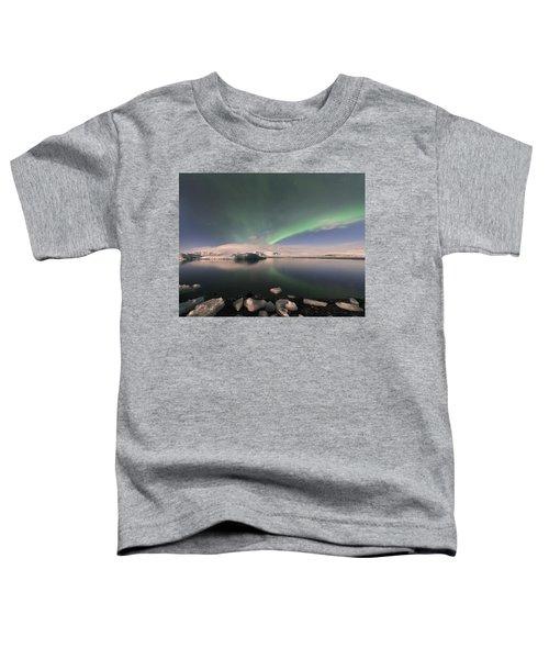 Aurora Borealis And Reflection Toddler T-Shirt