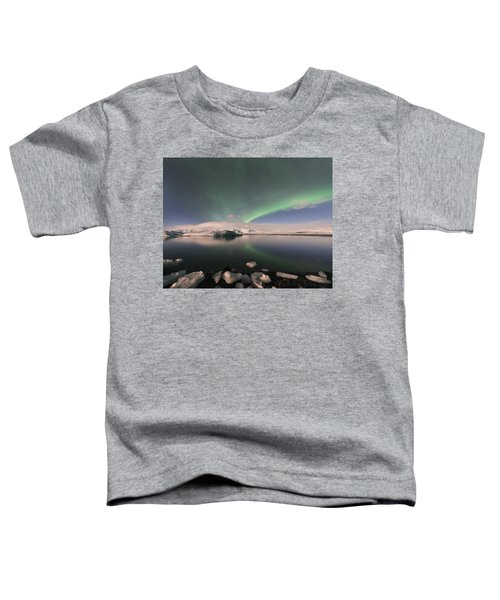 Aurora Borealis And Reflection Toddler T-Shirt