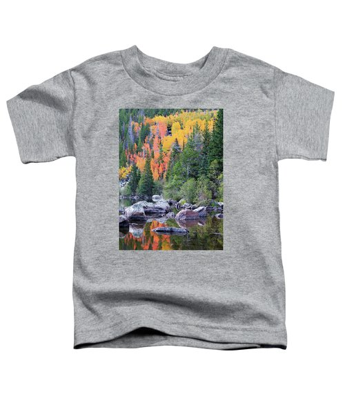 Toddler T-Shirt featuring the photograph Autumn At Bear Lake by David Chandler