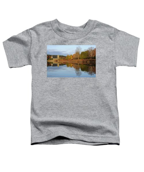 Autumn At The Old Stone Church Toddler T-Shirt