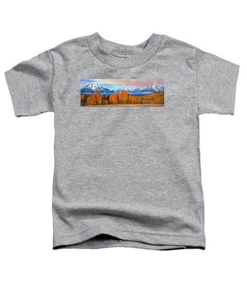 Autumn Trees With Mountain Range Toddler T-Shirt