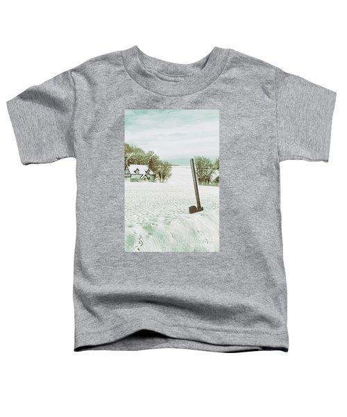 Axe In Snow Scene Toddler T-Shirt