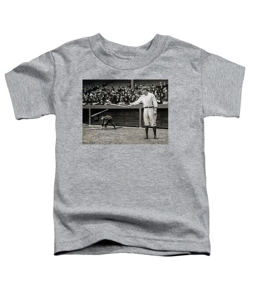 Babe Ruth At Bat Toddler T-Shirt