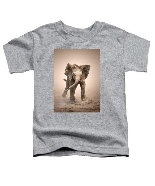 Baby Elephant Mock Charging Toddler T-Shirt